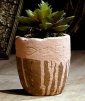 Vintage camel color pot artificial bali garden pot indoor gardens pot