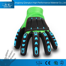 Green nitrile gloves for oil industrial use working gloves Heavy duty gloves