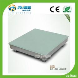 Stainless steel led glass brick for floor lighting