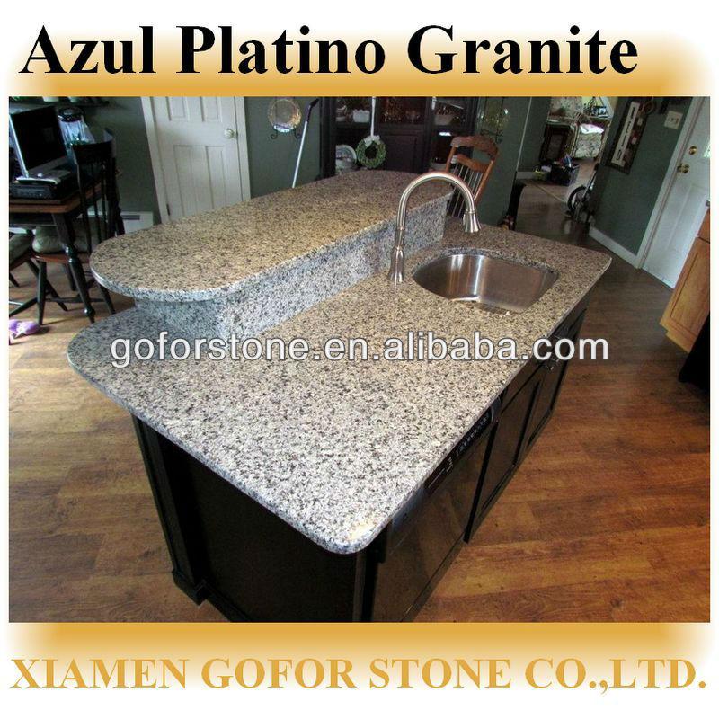 high polished azul platino granite countertop view azul platino granite countertop goforstone. Black Bedroom Furniture Sets. Home Design Ideas
