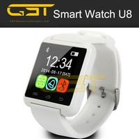 2015 hot sale china best android u8 wrist smart watch phone, bluetooth touch screen watch mobile phone