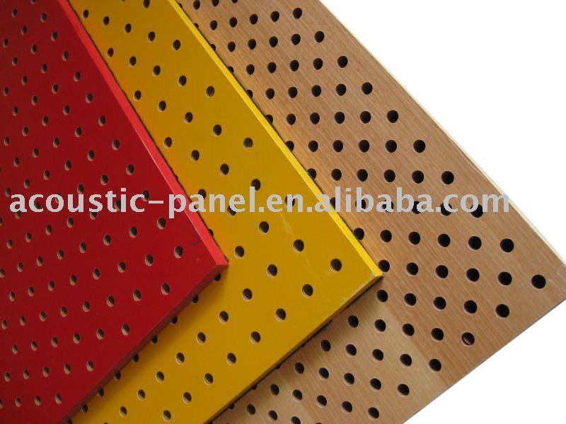 en bois perfor acoustique panneau panneaux insonorisants id du produit 364265857. Black Bedroom Furniture Sets. Home Design Ideas