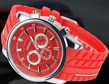 tres de seis pines serie de ginebra reloj de fábrica al por mayor de silicona led reloj