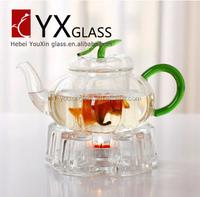 Manufacturers wholesale flower pot Pumpkin pot of high borosilicate glass tea set
