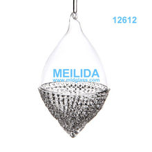 Wholesale fashion glass christmas ball ornament clear
