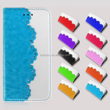 Shining Diamond PU Cell Phone Case for Iphone 5 Iphone 5s