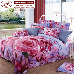 King size and woven technics cheap 100% polyester microfiber 7 pieces bed comforter duvet case