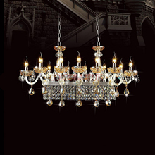 Wholesale LED Crystal Chandelier Art Glass Ship Chandeliers Hanging Pendant Lamp Light Lighting CZ3008/12+3