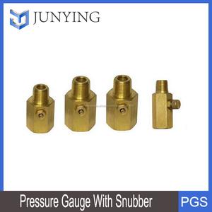 chất lượng tốt đồng hồ áp suất với snubber