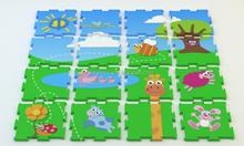 EVA foam interlocking puzzle mats for kids, waterproof colorful pattern floot mats for baby, newly designed foam play mats