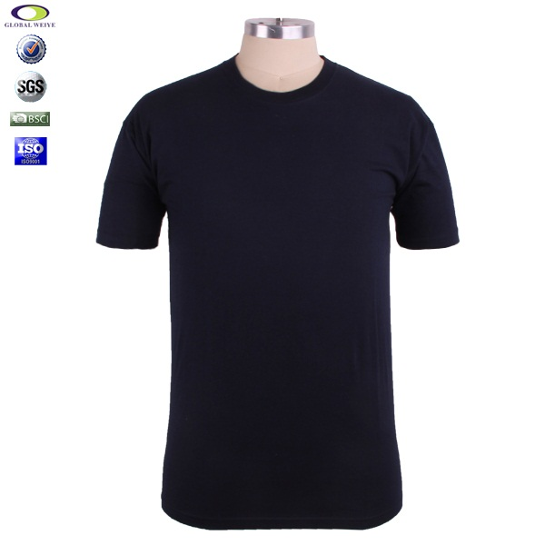 High quality plain black organic cotton t shirts wholesale Bulk quality t shirts