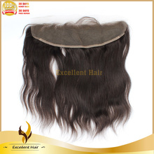 Unprocessed Factory Price Large In Stock Natural Straight Lace Frontal And Extensions Hair Pieces With Real Hairlines