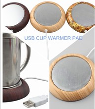 High quality Walnuts wood USB power heating cup USB mug coffee warmer