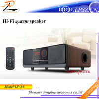 2014 hotest 2.1ch hifi bluetooth audio speakers with subwoofer, AUX, USB
