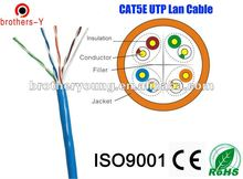 100 pair cat6 utp lan cat5e utp bare copper 24AWG 0.51MM lan cable project (building/ school/goverment/bank)