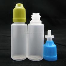 20ml White Pe Bottle for Eye Water 30ml 50ml Needle Bottle for E Vape Oil Plastic Oil Bottle with Childproof Tamperproof Cap