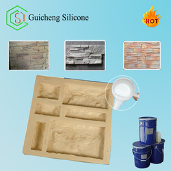 Silicone rubber for brushing mold making