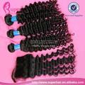 vierge cheveux crépus à base de soie partie libre extensions de cheveux bandeau fermeture invisible