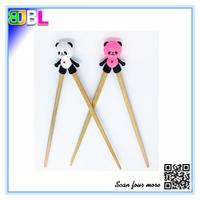 BL-10335 Bamboo Chopsticks With Silicone Holder Animal Shape Chopsticks