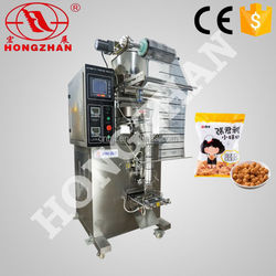 Zhejiang wenzhou Hongzhan HP100G snacks biscuits sugar seeds fully automatic vertical form fill seal machine with cup filler