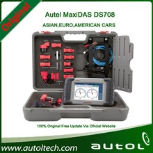 AUTEL newest firmware MaxiDAS DS708 Universal Car Scan Tool Free WIFI Update Online Deep vehicle system live data