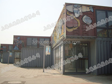 Fashionable container store, Mobile hydraulic system shipping coffee container shop