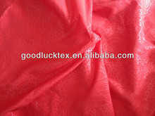 red color embossed fabric for wedding bed sets