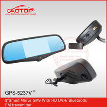 Full hd 1080p spy camera with gps manual car DVR support SD card rearview mirror