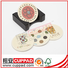 New developed baby shower glass coasters factory