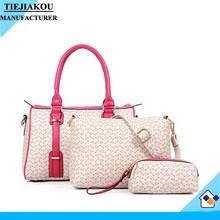 2015 fashion style women handbags china wholesale 3 in 1 set bag factory price purse and handbag