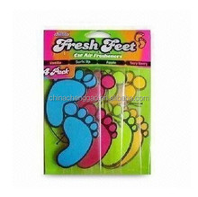 lovely foot shaped paper air freshener for car, home and offices