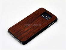 Mobile accessories Durable stripe PC + wooden hybrid case hard case cover for galaxy s6 wholesale
