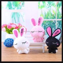 small stuffed toys black rabbit plush toys