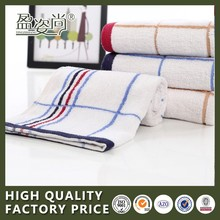 China Suppliers 100% Cotton Stripe Pattern Bath Terry Towel With Fabric