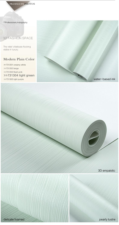3d moderna striscia puro colore non- tessuto carta da parati ...