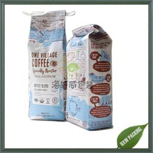 matte finish aluminum foil lined side gusset coffee packaging bag with valve and tin tie