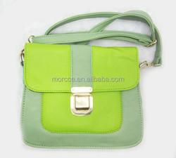 2015 latest messenger bag women cross body bag mixed two green colors