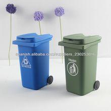 De escritorio de plástico de basura& reciclaje mini compartimientos de almacenaje