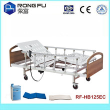 wood+powder coated steel electric hospital beds with two function