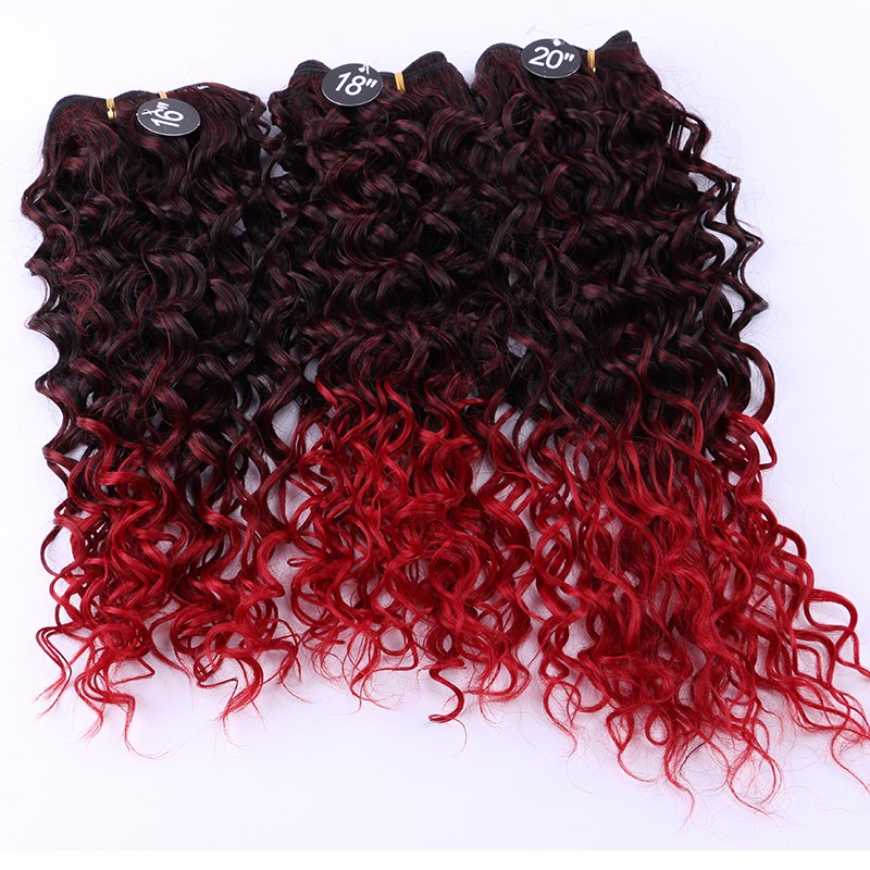 3 Bundles Red Brazilian Hair Weave Ombre Synthetic Hair Weaves