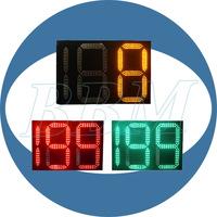 Two and half digits traffic led countdown digital wall clock