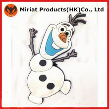 Promocional emborrachado 3d pvc macio congelado imã de geladeira