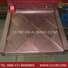 Chinese brass purple roof tile