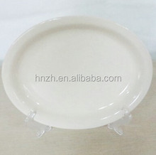 OVERSTOCK CHINA CLOSEOUT NARROW RIM 7.125'' OVAL PLATES DISHES FOR RESTAURANT