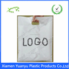 Printed your logo die cut patch handle plastic bag for packing