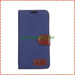 Fashionable Denim Magnetic Flip Leather Case For Samsung Galaxy Note5