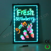 New Aliexpress China Wholesale Advertising Led Menu Board/Led Writing Board/Led Sign Board