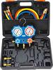 refrigerant manifold pressure gauges / 2-Valve sight glass aluminum alloy testing manifolds