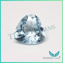 Gem cutting heart shape natural loose gemstones london blue topaz