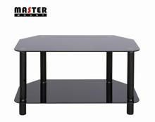 Solid 10mm Tempered Glass and Steel Tube TV Stands